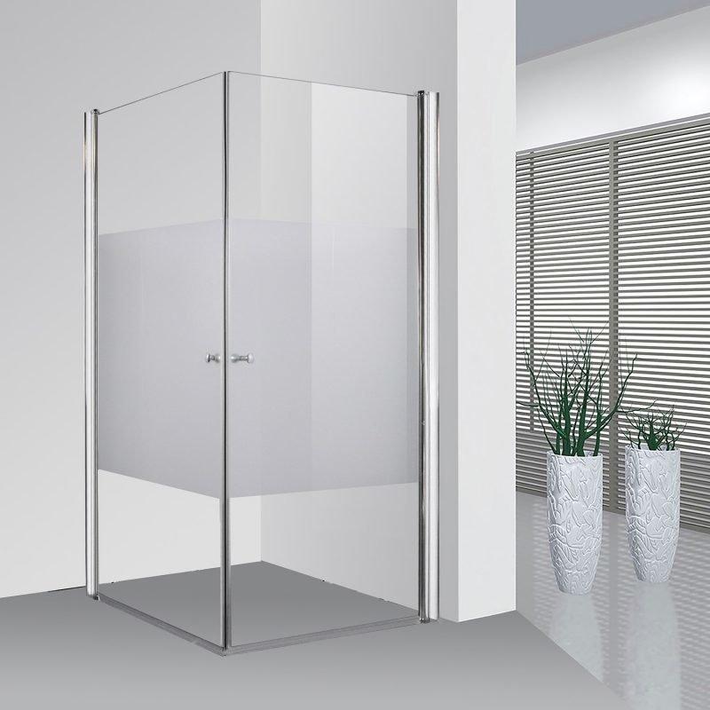 Suihkunurkka Bathlife Ideal suorakulma 800 x 800 mm osittain huurrettu