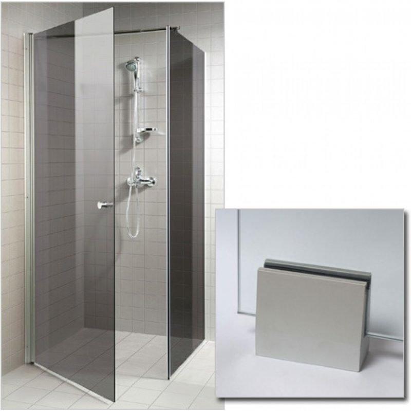 Suihkunurkka GlassHouse 90x90x200 cm harmaa lasi