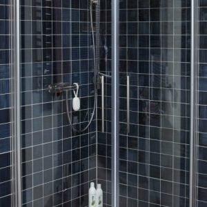 Suihkunurkka Noro Fix Trend R 88 800x800 mm hopea/lasi kirkas