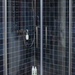 Suihkunurkka Noro Fix Trend R 99 900x900 mm hopea/lasi kirkas
