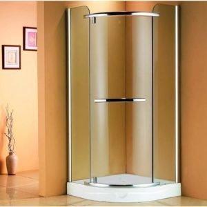 Suihkunurkkaus Adagio 90x90x200 cm matta-alumiini harmaa turvalasi
