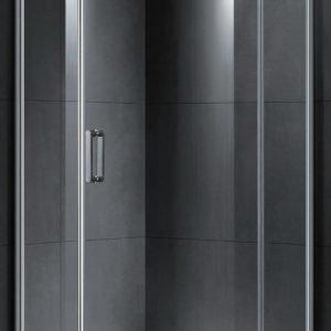 Suihkunurkkaus LaSpa Adagio Nuevo 90x90x190 cm kiillotettu alumiini kirkas lasi oikeakätinen