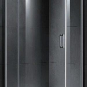 Suihkunurkkaus LaSpa Adagio Nuevo 90x90x190 cm kiillotettu alumiini kirkas lasi vasenkätinen