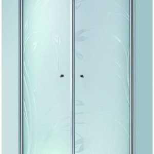 Suihkunurkkaus LaSpa Andante Nuevo 80x80x195 cm matta-alumiini kuviolasi