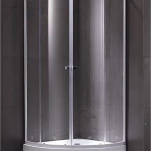Suihkunurkkaus LaSpa Piano Giusto 80 80x80x195 cm matta-alumiini harmaa turvalasi