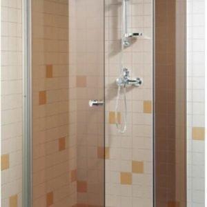 Suihkuovi GlassHouse 90x200 cm pronssi lasi