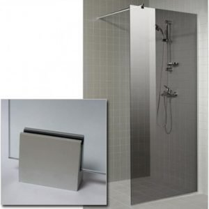 Suihkuseinä GlassHouse 90x200 cm harmaa lasi