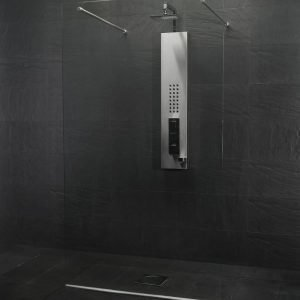 Suihkuseinä walk-in-shower Clear 1350x2000 mm kirkas lasi