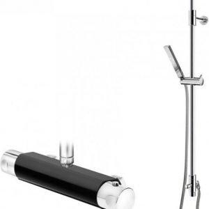 Suihkusetti Gustavsberg G1 mustalla Coloric termostaattihanalla