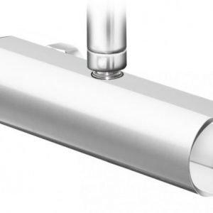 Suihkutermostaatti Gustavsberg Coloric suihkuliitäntä yläpuolella alumiinia hopea