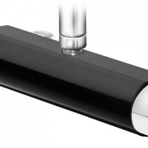 Suihkutermostaatti Gustavsberg Coloric suihkuliitäntä yläpuolella alumiinia musta