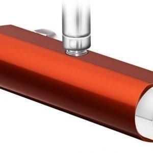 Suihkutermostaatti Gustavsberg Coloric suihkuliitäntä yläpuolella alumiinia punainen