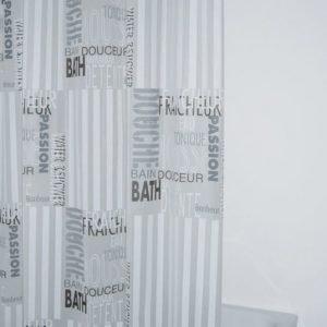 Suihkuverho Ridder Font 180x200 cm