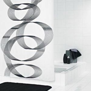 Suihkuverho Ridder Loop 180x200 cm tekstiili