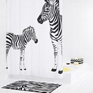 Suihkuverho Ridder Zebra 180x200 cm tekstiili