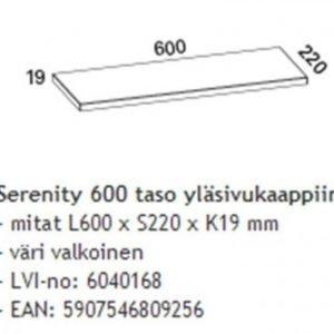 Taso Otsoson Serenity 600 600x220x19 mm valkoinen yläsivukaappiin