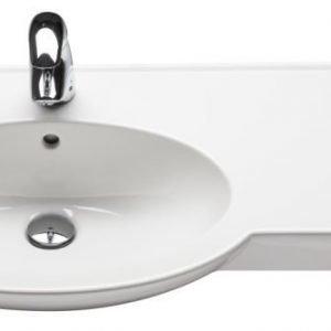 Tasoallas IDO Shape 11197 900x330/435x180 mm valkoinen vasen