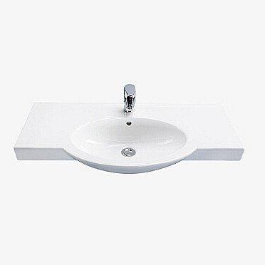 Tasoallas IDO Shape 11200 900x330/435x180 mm valkoinen symmetrinen