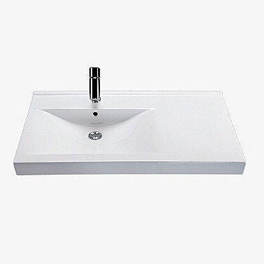 Tasoallas IDO Wave 92041 900x500x150 mm valkoinen vasen