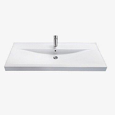 Tasoallas IDO Wave 92043 1200x500x150 mm kaksi hanareikää valkoinen