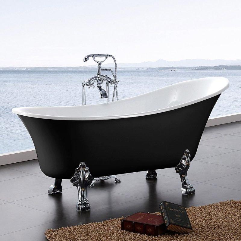 Tassuamme Bathlife Fossing 1620 1620x710mm 180l musta