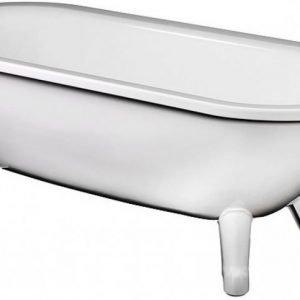 Tassuamme Gustavsberg GBG 6368 valkoisilla jaloilla 209 l 1680x730 mm valkoinen