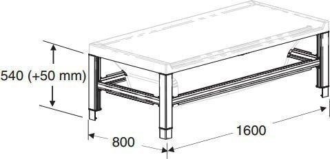 Tukikehikko IDO Seven D Image 1600 kylpyammeeseen valkoinen