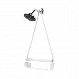 Umbra Flex Single Shower Caddy Suihkuteline Valkoinen 10x43 Cm