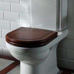 WC-istuin Ceramicplus-pinnoitteella Villeroy & Boch Hommage 6662 370x725 mm Valkoinen Alpin + istuinkansi + huuhtelusäiliö
