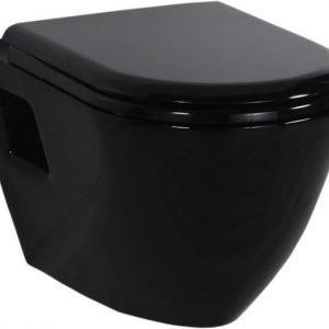 WC-istuin Creavit TP 325 40 seinämalli musta soft-close kansi