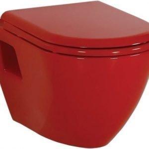 WC-istuin Creavit TP 325 70 seinämalli punainen soft-close kansi