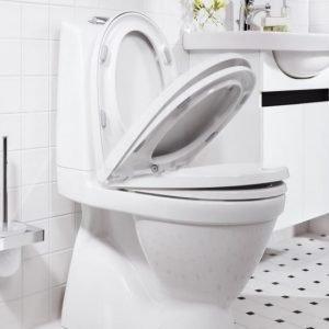 WC-istuin Gustavsberg Nautic 5500 kaksoishuuhtelu 3/6 l CeramicPlus softclose-kansi piiloviemäri S-lukko