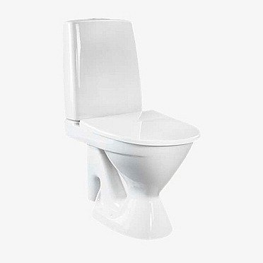 WC-istuin IDO Seven D 37213 S-lukko 2-huuhtelu valkoinen leveä jalka