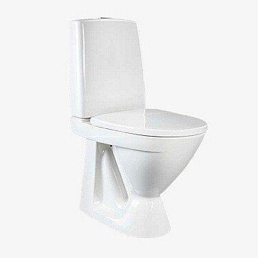 WC-istuin IDO Seven D 39212 S-lukko 2-huuhtelu valkoinen korkea kova kansi