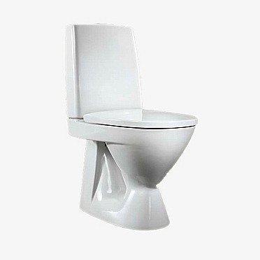 WC-istuin IDO Seven D 39310 S-lukko 2-huuhtelu valkoinen kova kansi ei kiinnitysreikiä