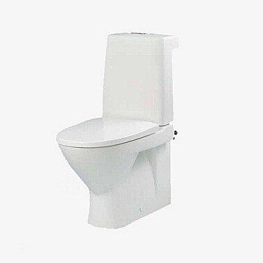 WC-istuin IDO Seven D Image 36214 P-lukko 2-huuhtelu valkoinen Siflon