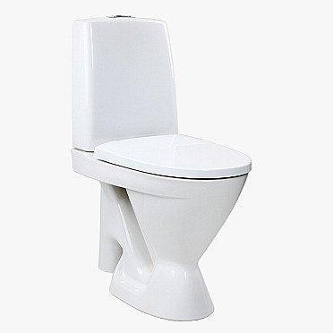 WC-istuin Ido Seven D 17 iso jalka kiinnitysrei'illä ilman istuinkantta 1-huuhtelu