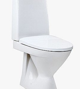 WC-istuin Ido Seven D 18 lyhyt p kiinnitisrei'illä ilman istuinkantta 1-huuhtelu