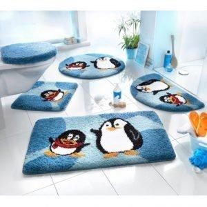 Webschatz Kylpyhuonematto Pingviini Beige