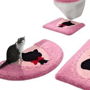 Webschatz Kylpyhuonesarja Kissat Pinkki