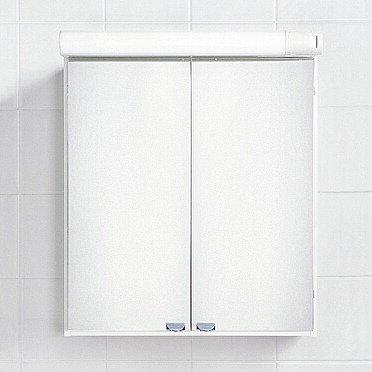 Yhdistelmäpeilikaappi IDO Reflect 560x670x150/220 mm vikavirtasuojalla valaisin + 2 hyllyä + pistorasia valkoinen