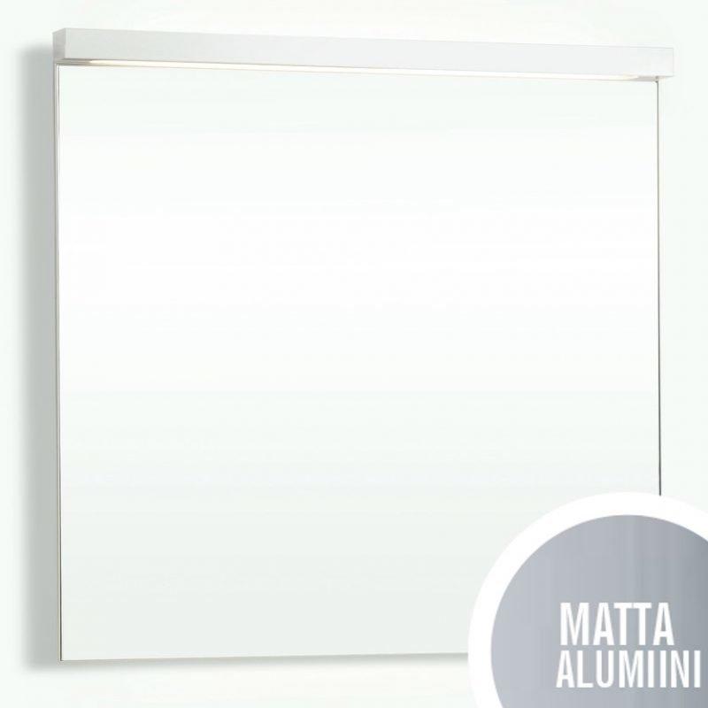 Yläosa Forma peili 80 ala- ja ylävalaistuksella matta alumiini