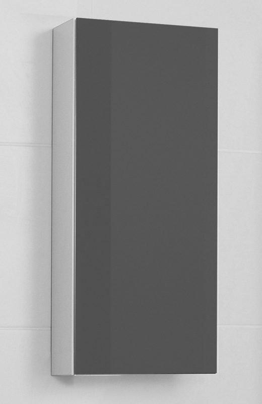 Yläsivukaappi Picard by Finnmirror Slim 30 vasen matta hopea harmaa /peili